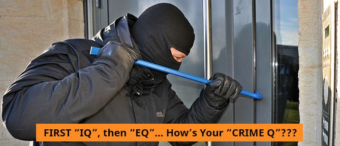 """FIRST """"IQ"""", then """"EQ""""… How's Your """"CRIME Q""""?"""