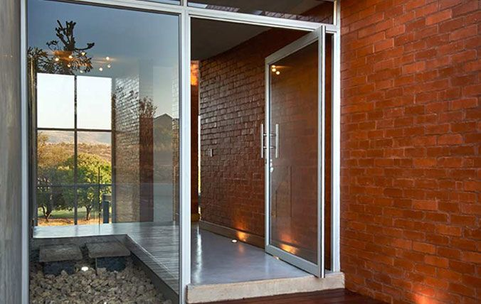 entrance pivot doors
