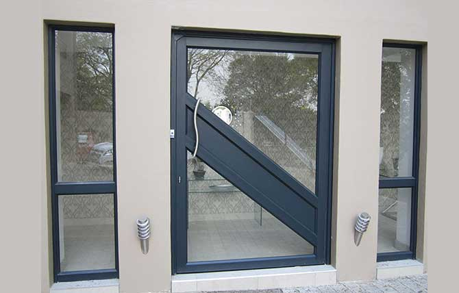 big black entrance door