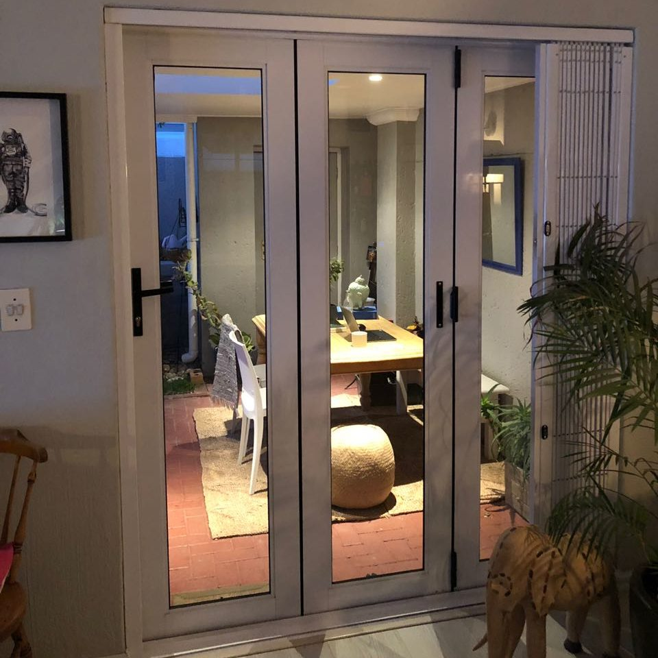 Closed Aluminium Folding Door
